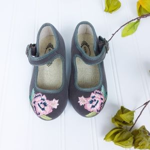 Joyfolie Girls Brielle Embroidered Mary Jane Grey